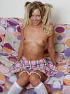 Aaliyah Love is a bad little school girl as she strips out of her uniform and fingers her tight pink pussy